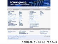 Scm Group website